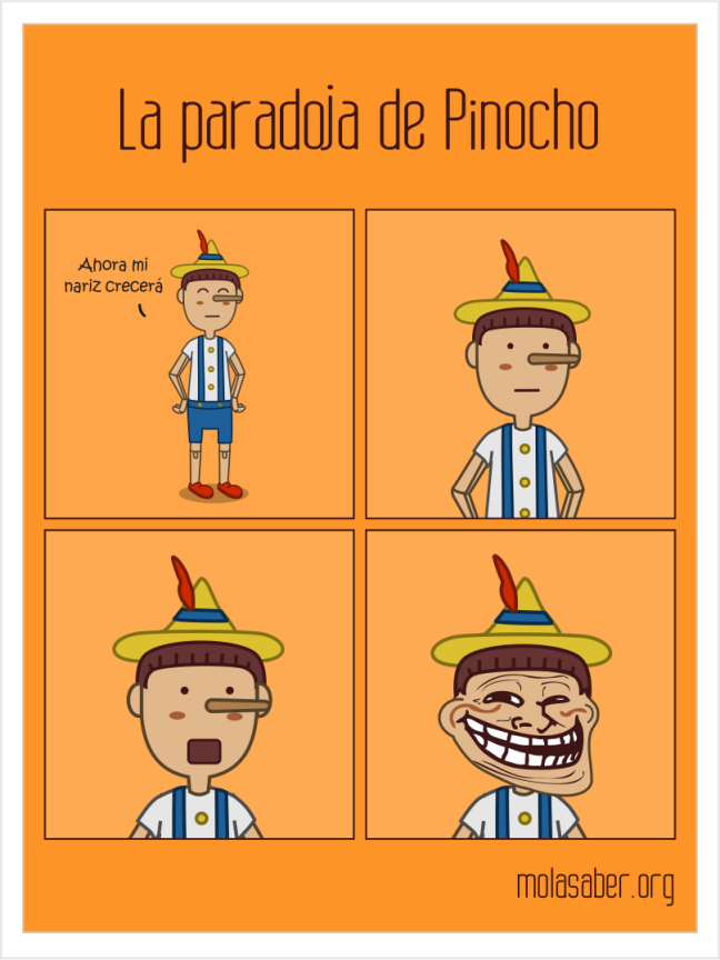 paradoja de pinocho